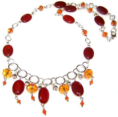 Sunfire Necklace Free Beaded Jewelry Making Pattern