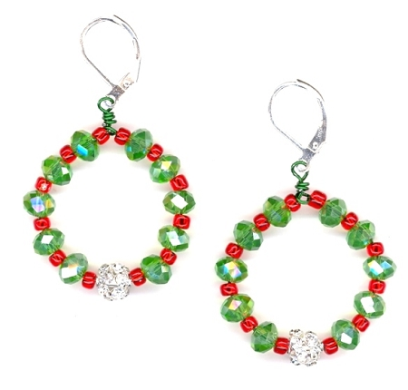 Wreath Earrings Free Beaded Jewelry Making Pattern