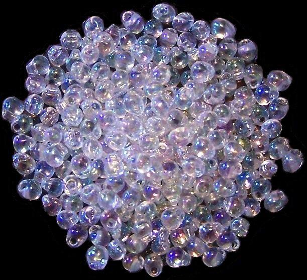 Clear Rainbow Miyuki Drop Beads