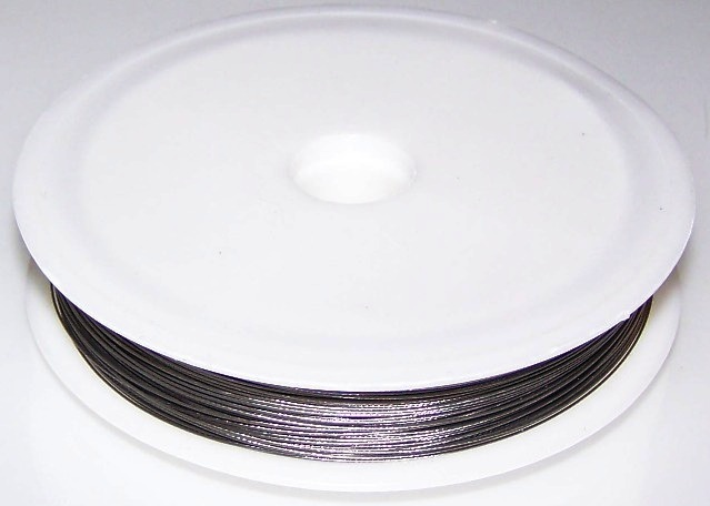 1 - 50 Meter Spool of 0 35mm Buddy Braids Silver Colored Wire