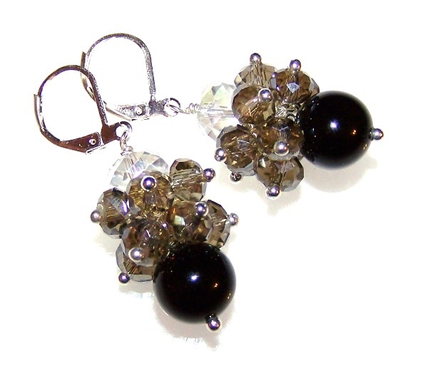 Black Tie Earrings Free Beaded Jewelry Making Pattern