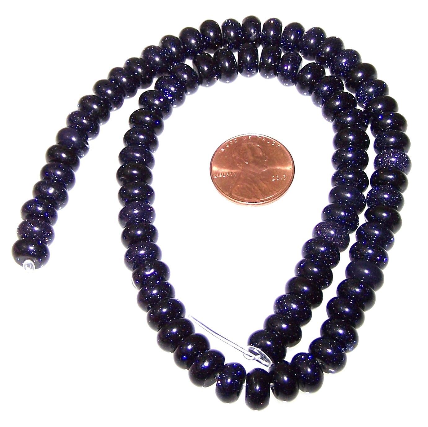 Large Hole smooth gemstone 8mm Goldstone Round Beads gem0599 half strand
