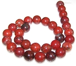 6 Brecciated Jasper 12mm Round Semiprecious Gemstone Beads