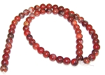1 Strand of 6mm Round Semiprecious Gemstone Beads - Brecciated Jasper