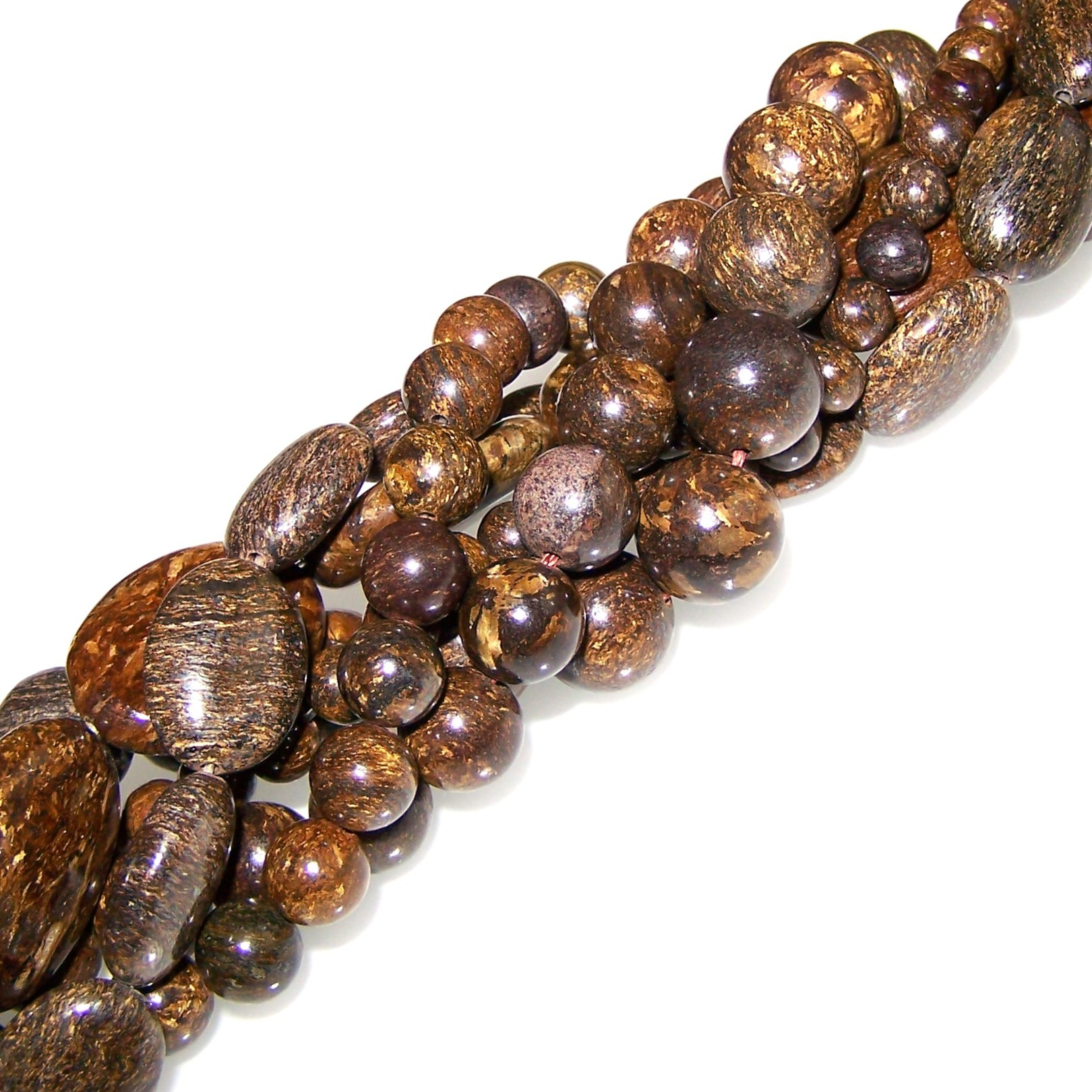 Bronzite Gemstone Beads