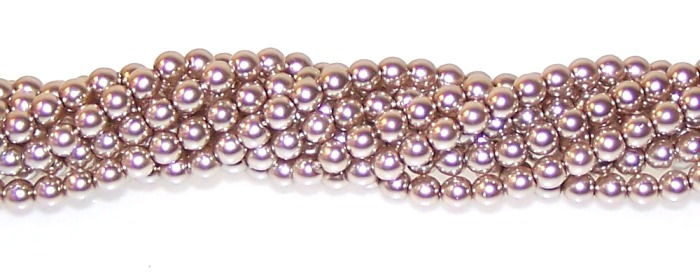 Champagne 4mm Czech Glass Pearl Beads