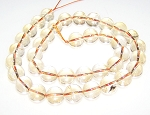 1 Dozen Citrine 10mm Round Semiprecious Gemstone Beads