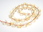 6 Citrine 12mm Round Semiprecious Gemstone Beads