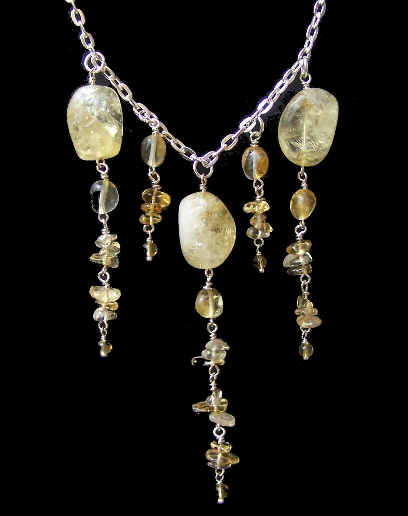 Citrine Dreams Necklace Free Beaded Jewelry Making Pattern
