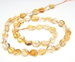 1 Strand of 7x10mm Irregular Nuggets Semiprecious Gemstone Beads - Citrine