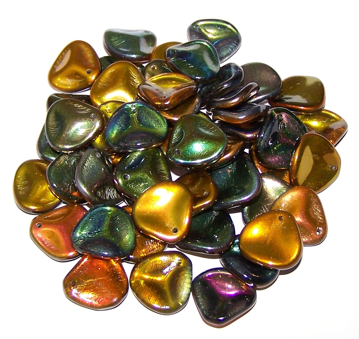 Czech Glass - 14x13mm Petals