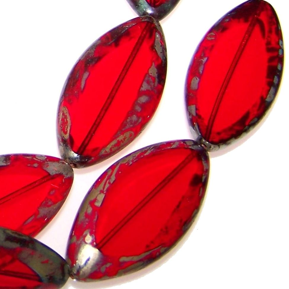 Czech Glass Oval Beads