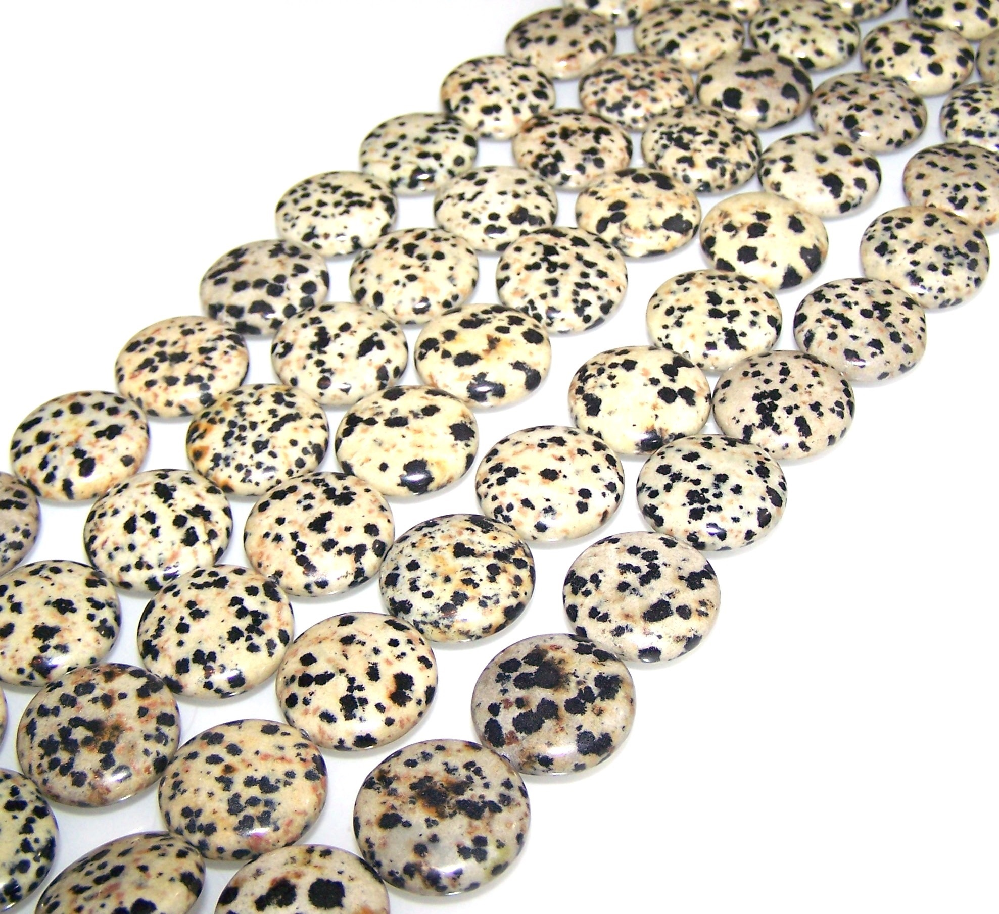 Dalmatian Jasper Gemstone Beads
