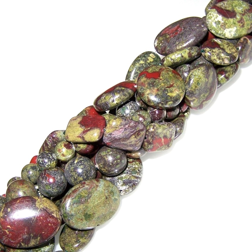 Dragon Blood Jasper Gemstone Beads