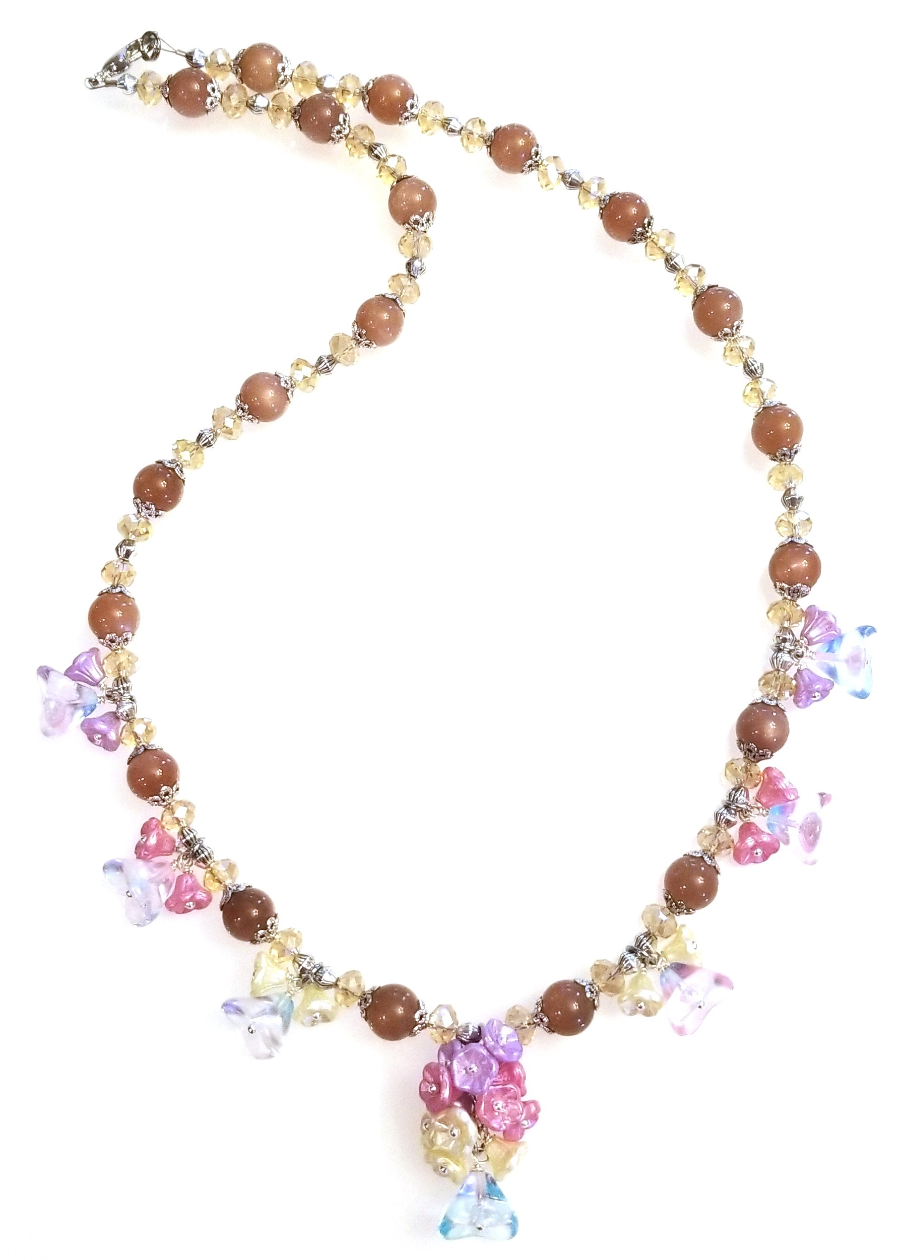 Fairy Blossoms Necklace Free Beaded Jewelry Making Pattern