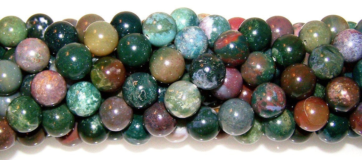 Fancy Jasper Semiprecious Gemstone Beads