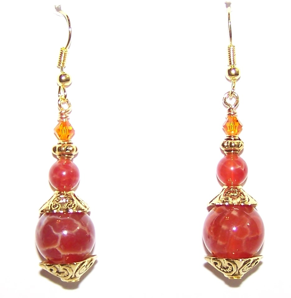 Fiery Relics Earrings Free Beaded Jewelry Making Pattern