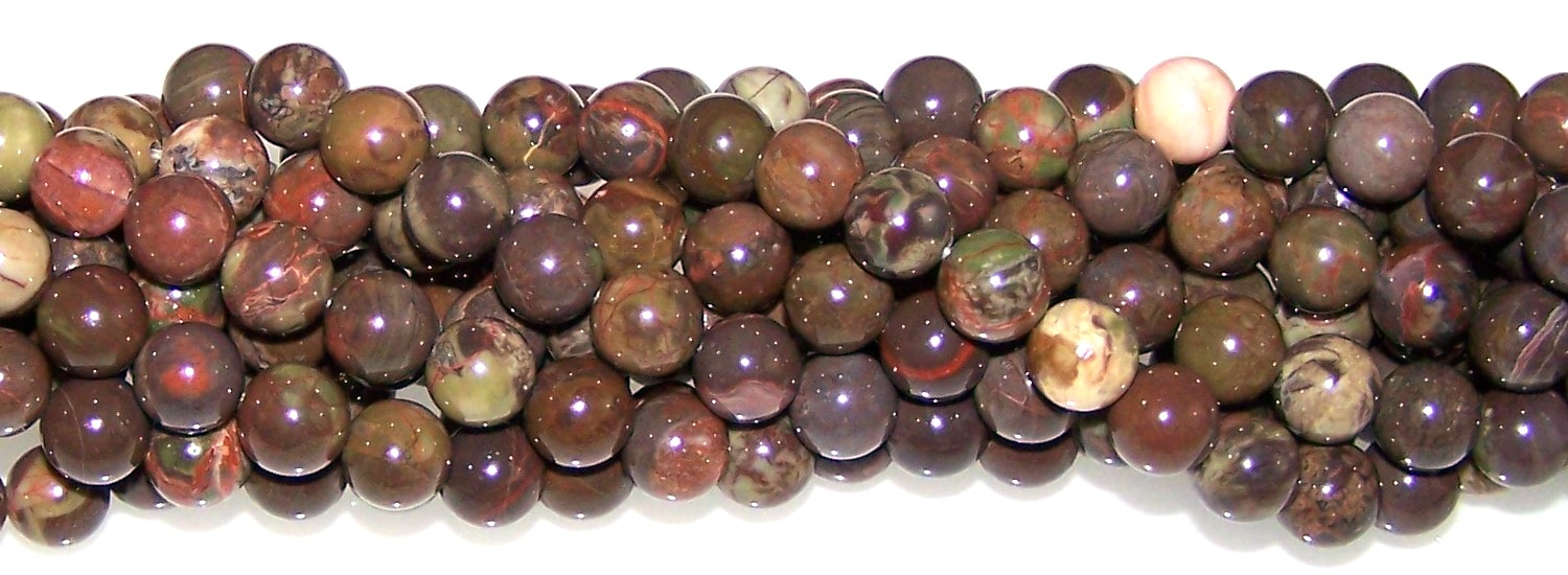 Flower Agate Semiprecious Gemstone Beads