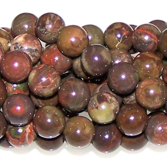 Flower Agate Beads