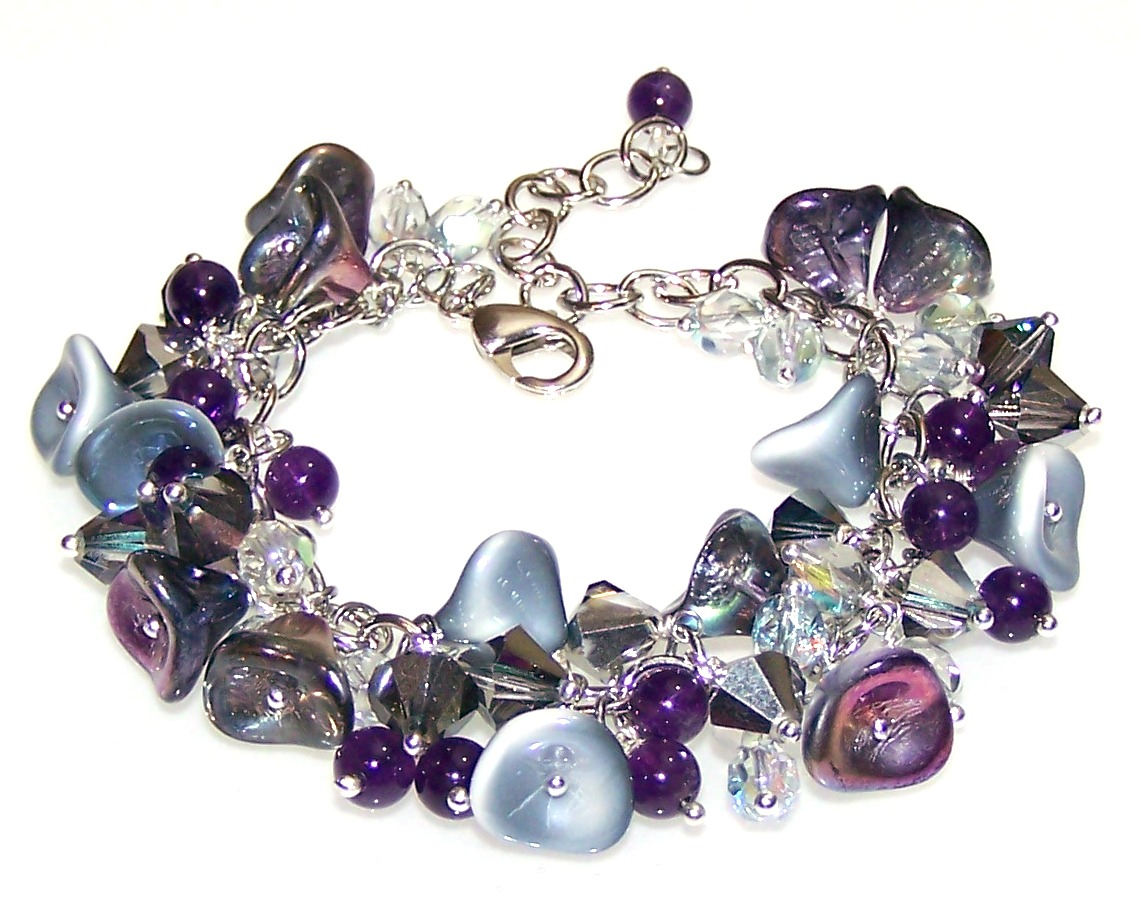 Frosted Beauty Bracelet Free Beaded Jewelry Making Pattern