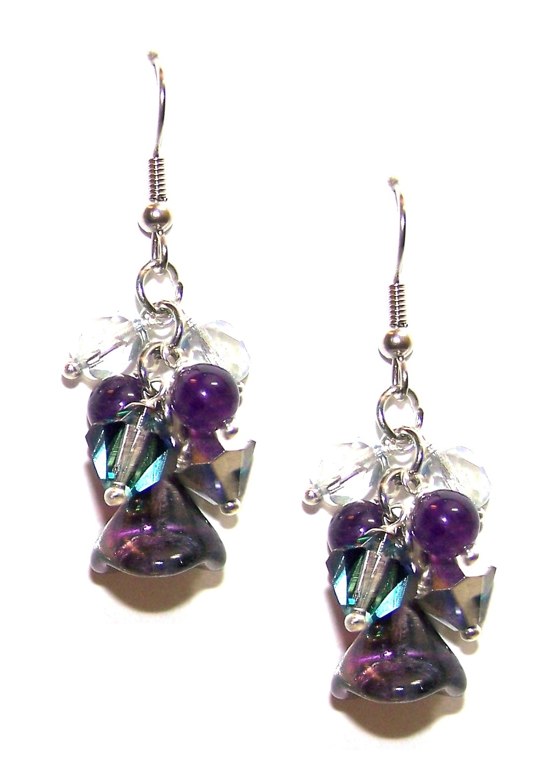 Frosted Beauty Earrings Free Beaded Jewelry Making Pattern