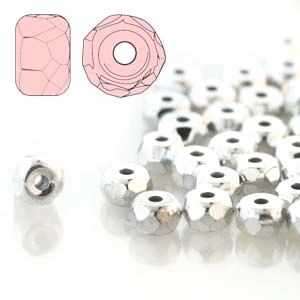 Full Labrador 2x3mm Micro Spacer Faceted Czech Glass Beads