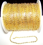 16 Ft (5 meters) of Gold-Plated Cable Chain 4x3mm