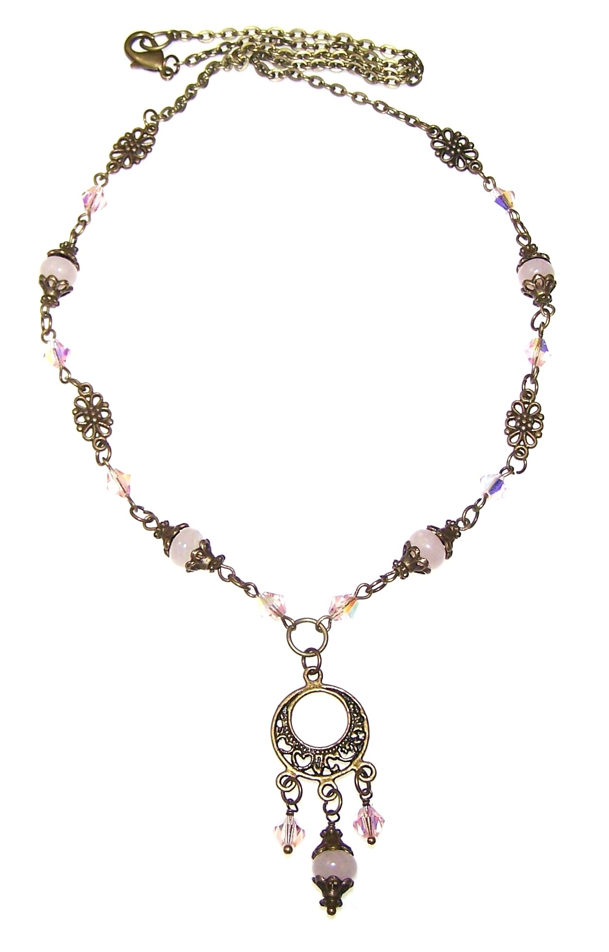 Iridescent Rose Necklace Free Beaded Jewelry Making Pattern