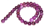 1 Dozen 10mm Round Semiprecious Gemstone Beads - Lepidolite