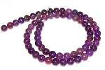 1 Strand of 6mm Round Semiprecious Gemstone Beads - Lepidolite