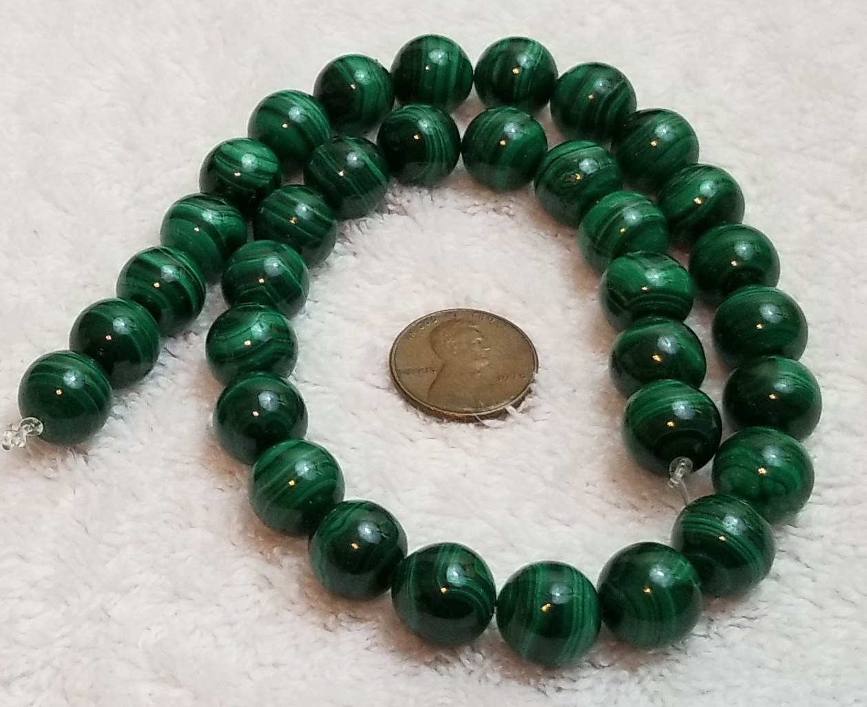 R-F-MAL-03052018 Genuine Malachite Smooth Round Loose Beads Size 12mm Approx 15.5/'/' Long per Strand