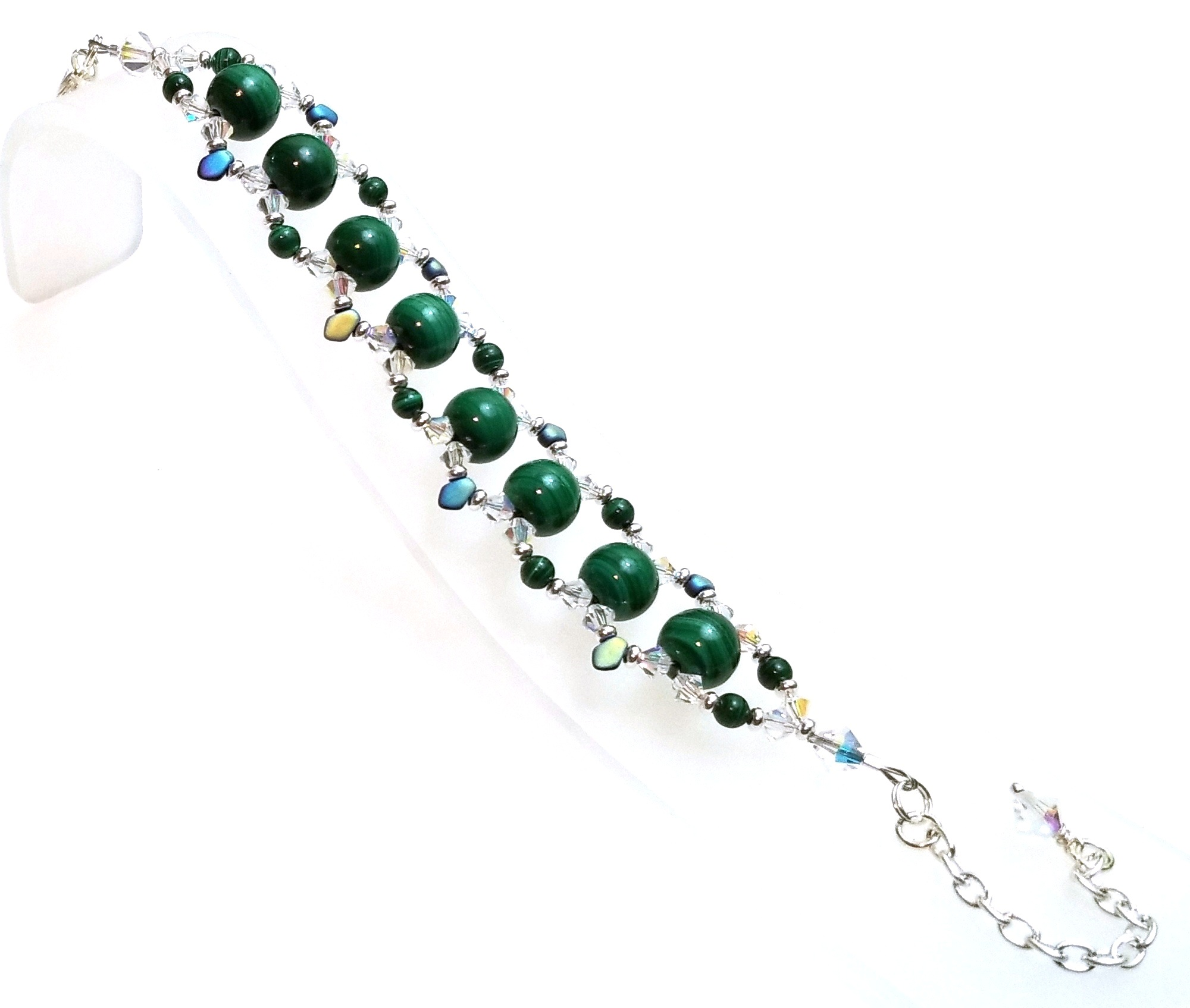 Malachite Bracelet Free Beaded Jewelry Making Pattern