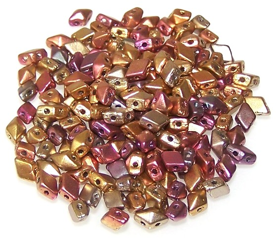 Matte Golden Iris MINI DiamonDuo Beads