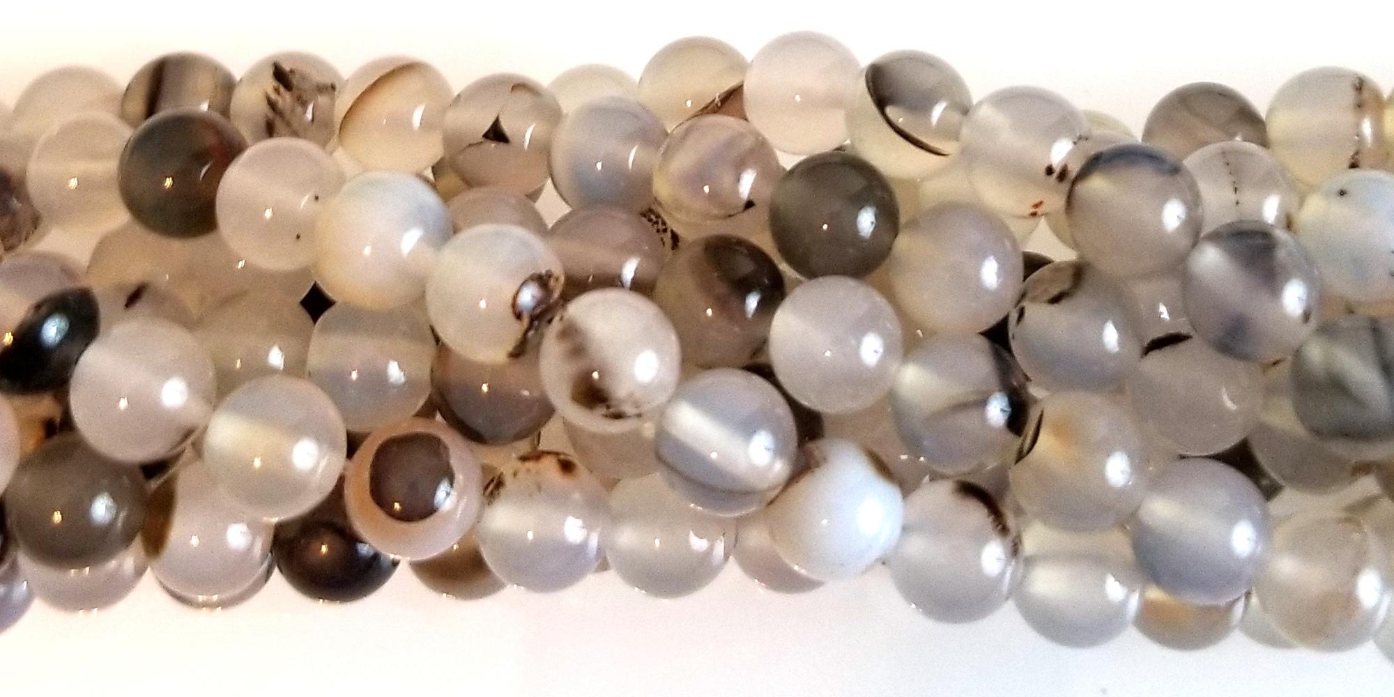 Montana Agate Semiprecious Gemstone Beads