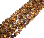1 Strand of Semiprecious Gemstone Chip Beads - Natural Tiger Eye