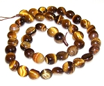 1 Dozen 7x10mm Irregular Nuggets Semiprecious Gemstone Beads - Natural Tiger Eye