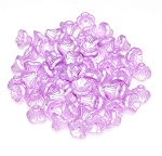 25 Czech Glass 7x5mm Flower Cup Beads - Alabaster Pastel Light Rose