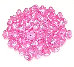 25 Czech Glass 7x5mm Flower Cup Beads - Alabaster Pastel Pink