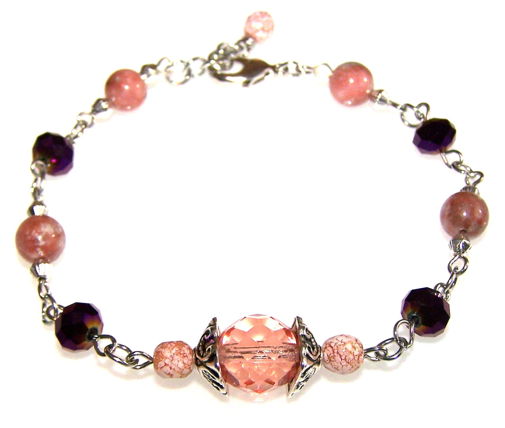 Plum Breeze Bracelet Free Beaded Jewelry Making Pattern