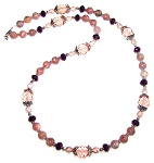 Plum Breeze Necklace Beaded Jewelry Making Kit