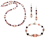 Plum Breeze Beaded Jewelry Making Set