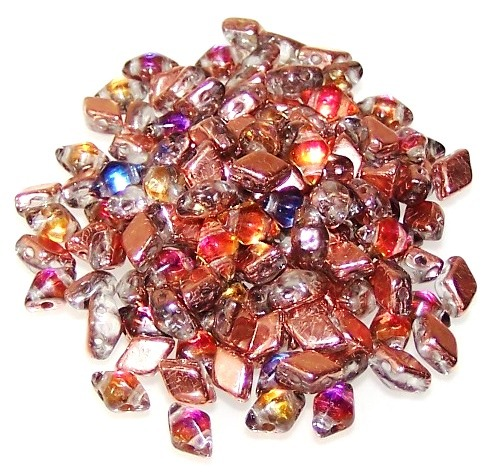 Czech Glass MINI DiamonDuo Beads