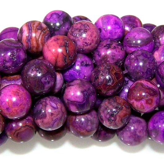 Purple Crazy Lace Agate Beads