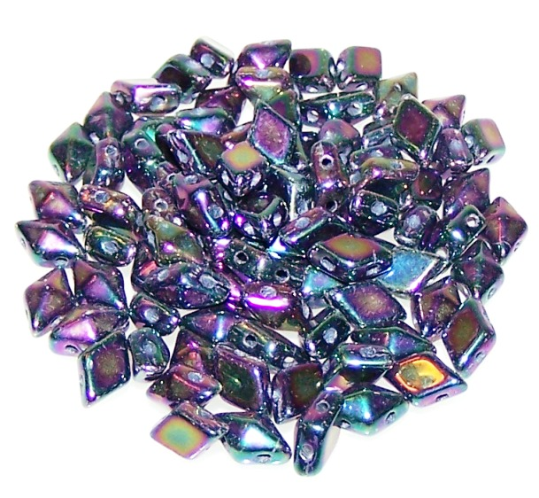 Czech Glass DiamonDuo Beads