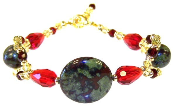 Ruby Sunset Bracelet Free Beaded Jewelry Making Pattern