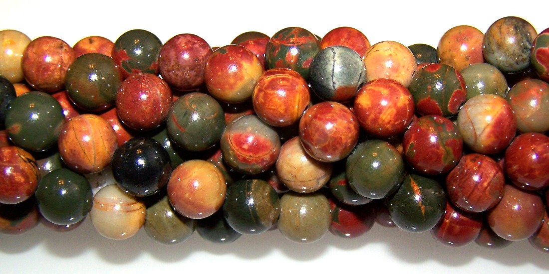 Red Creek Jasper Semiprecious Gemstone Beads
