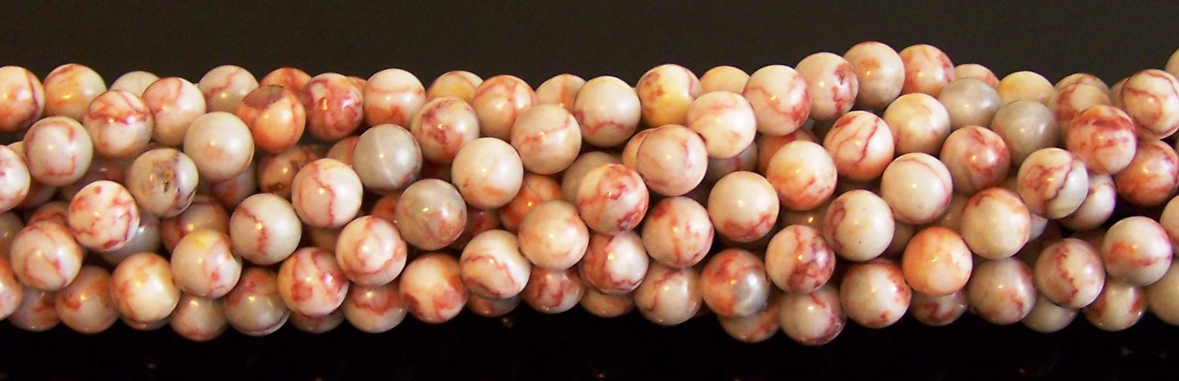 Red Map Jasper Semiprecious Gemstone Beads