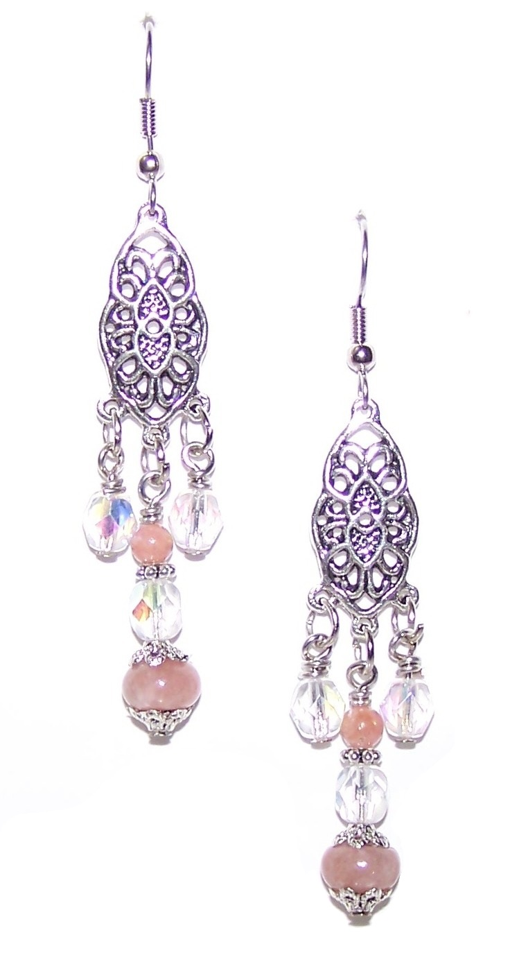 Red Plum Blossom Ballet Earrings Free Beaded Jewelry Making Pattern