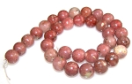 1 Strand of 12mm Round Semiprecious Gemstone Beads - Red Plum Blossom Jasper