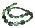 6 Ruby Zoisite 13x18mm Puff Oval Semiprecious Gemstone Beads